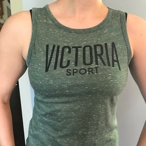 Army Green Muscle Tank